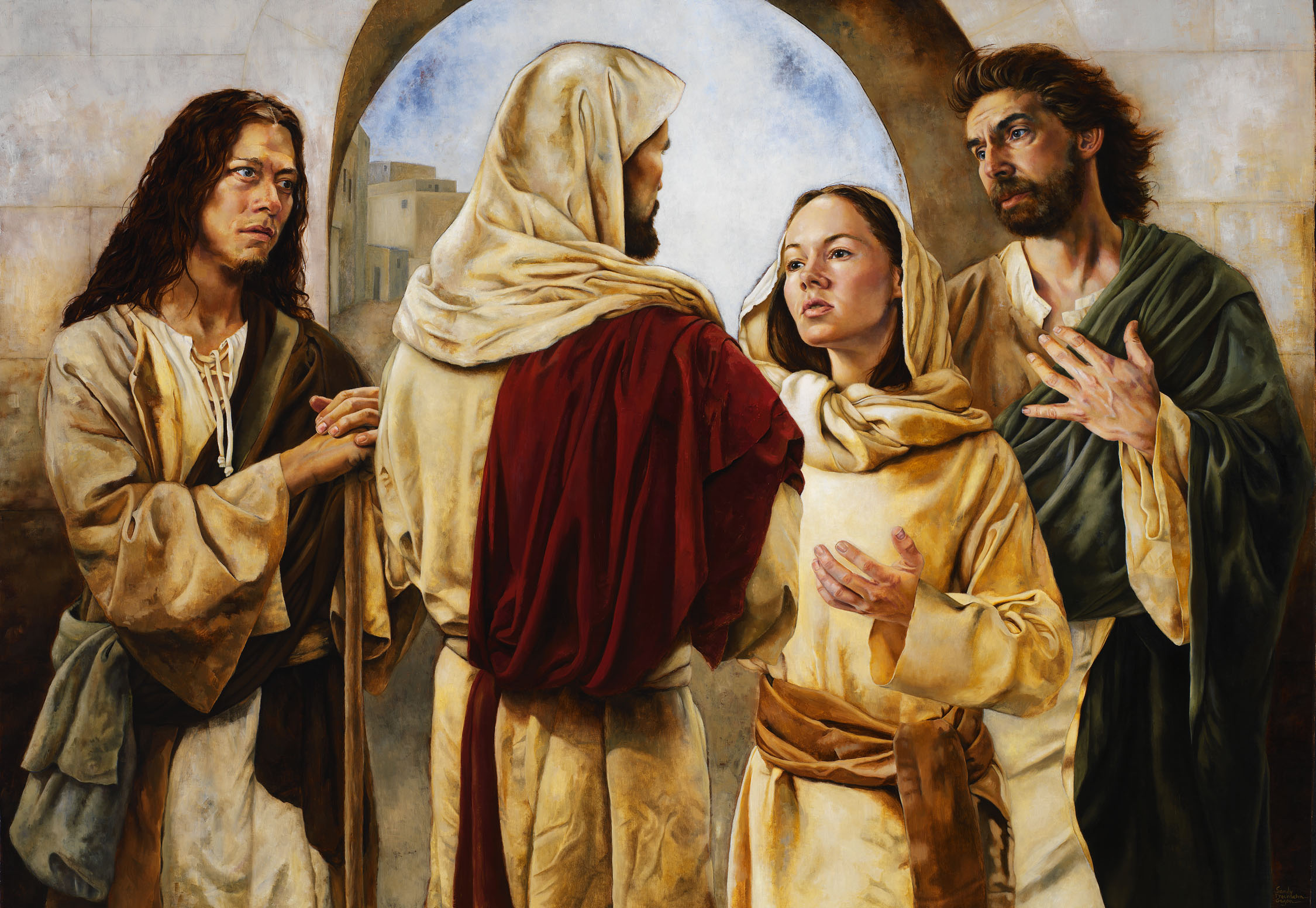 jesus relationship with mary martha and lazarus clip